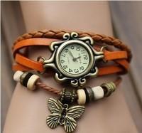 Fashion Lady Genuine Leather strap Vintage Watch Quartz women bracelet dress watches women brand casual jelly wristwatch