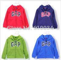 2014 free shipping wholesale children's fleece zipper hoodies male female child fashion outwear clothing & a hood kid's clothing