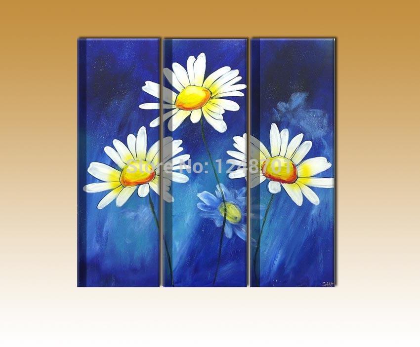 Online kopen wholesale drie bloemen schilderen met olieverf uit china drie bloemen schilderen for Schilderen moderne volwassen kamer
