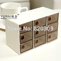 Multifunctional 9 Transparent Drawers Storage Box Jewelry Tool Box, Free Shipping, Dropshipping