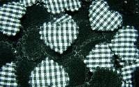 100  Padded  Cotton  fabric appliques trim - 22 x 15 mm   BLACK