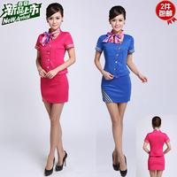 Stewardess uniforms professional set sauna summer work wear ktv princess clothing mounted stewardess