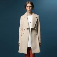 Woolen outerwear women's 2013 winter woolen overcoat double breasted medium-long