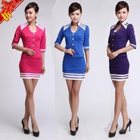 2014 ktv princess clothing stewardess professional set sauna work wear
