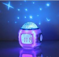 Star Light Lamp Light-Up Gift Alarm Clock Table Lamp Lampshade Touch Table Lamp Stage Lights Projection Lamps
