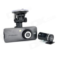 "AT950 HD 1080P 2/3"" CMOS 5.0MP + 1.3MP Car DVR Camcorder w/ 2.7"" TFT Display - Ash Black"