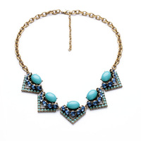 Rory Necklace Blue Deco Inspired Necklace Match bestselling Mae and Layers Beautifully with The Somervell Necklace