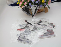 Wholesale 2014 Sneaker Shoes Home Decoration Car Air Freshener Yeezy 2 AJ1 3 4 5 7 11 12 13 Black ICE (Mix 12pcs/lot)