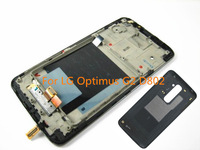 Original  LCD Touch Screen Digitizer   Assembly Frame Replacement for LG G2 D802 Black HK free ship