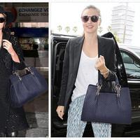 Hot Sale British Style Women Genuine Leather Bag Diamond Ladies Messenger Bag Fashion Shoulder Handbags for Woman Totes