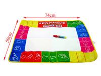 Water Drawing Board Water Painting Toys Magic Mat Aquadoodle Mat Baby Play Mat Learning&Education Xmas Gift &1 Magic Pen,74*50cm