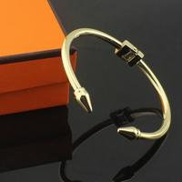New 2014 Brand Design Plated Rose gold/Silver/Gold Bracelet Rivet Punk Stainless Steel Bracelets Bangles For Women,Man Jewelry
