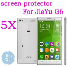 Ultra-clear Screen Protective Film for Jiayu G6 MTK6592 Octa Core  5.7inch lcd touch screen.5pcs Jiayu G6 screen protector.HOT
