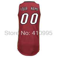 Basketball Miami Jersey 00 Custom Authentic Home Road Alternate Jersey Free Shipping Cheap Embroidery