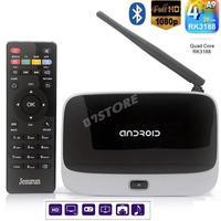 CS918 Quad Core Google Android 4.2 Smart TV Box Player HDMI 1.8GHz WiFi 1080P 2GB 8GB EU/US Plug Bluetooth Set top box