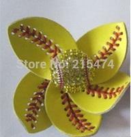 Softball Flower Accessory and hair clip,softball hair bows