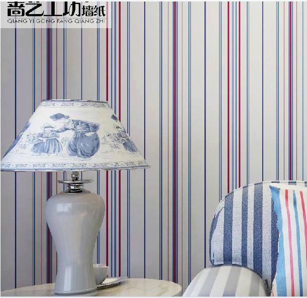 Online kopen wholesale blauwe strepen achtergrond uit china blauwe strepen achtergrond - Moderne woonkamer behang ...