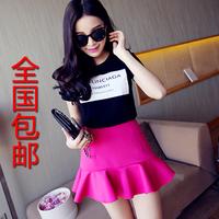 Emperorship 2014 legs air layer ruffle high waist short skirt bust skirt 6036