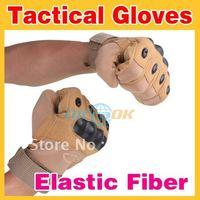 Good New USMC Tactical Full Finger Airsoft Gloves Elastic Fiber Khaki free shipping NW