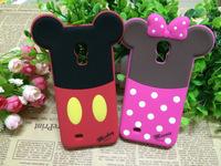 Top-Saling Minnie Mouse Silicon 3D Phone Case for Samsung Galaxy S3 Mini i8190/S4 Mini i9190 Mickey Cartoon Silicon Back Case