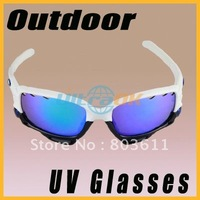 Good New UV UV400 Bicycle Bike Outdoor Sport Goggle Glasses eyewear +Replacement LENS + Cloth Black&White free shipping NW