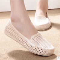 2014 summer sandals women's shoes flat heel platform sandals cutout solid color Sandals