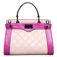 OPPO brand  PU leather  bags women fashion color block plaid  handbag messenger bag 2014 9910 - 1