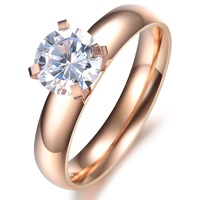 Stainless steel Cheap Engagement Rings For Women Zircon Stone Lady Wedding Bands Perfect Beauty Gift For Girls Fashion Accessory