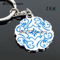 Blue and White Porcelain Model Dragon Phoenix Classic 3D Simulation Chinese Style Model  Keychain Key Chain Ring Keyring Keyfob