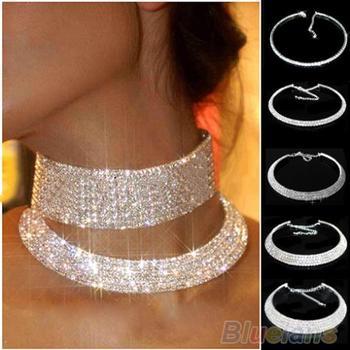 Горячая распродажа новый женский кристалл горный хрусталь ворота ожерелья свадьба ...