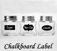 wholesale DIY chalkboard stick blackboard, removable wall decal, chalkboard stickers labe 3.5*5  cm   total 36 pcs