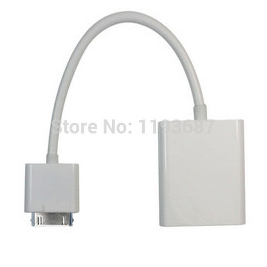 VGA 1080P 30PIN Dock Connector to VGAI Adapter AV HDTV TV VGA Cable Adapter For IPHONE 4S 4(China (Mainland))