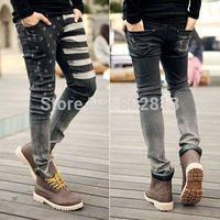 Vigor New Fashion Young Men's Stylish Slim Skinny Wash Jeans Trousers Pants Street Man Jean Retro