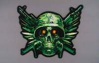 Embroidery Felt  Biker Patches for Jacket Back Full Size and Full Set Resident Evil Motorcycle