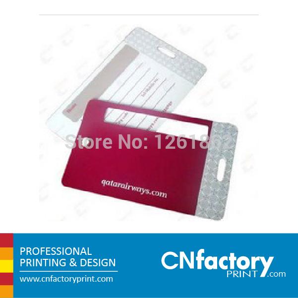PVC coloured card luggage,plastic card luggage tags(China (Mainland))