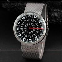 New digital turntable No hands  men's watch quartz watch