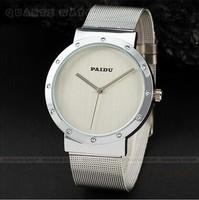 boutique brushed metal surface of the metal mesh belt men's casual watch quartz watch