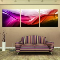 Free Shipping Hot Sell Modern Wall Painting 3 Panels Red  silk  Flower Decorative Art Picture Paint on Canvas Prints
