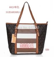 2014 European and American fashion handbags shoulder bag handbag stripe package