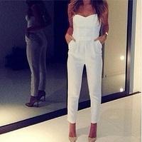 2014 new fashion sexy V neck pant fit playsuit women elegant jumpsuit