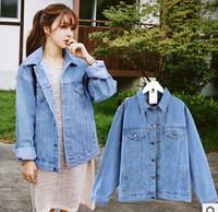 2014 denim outerwear female long-sleeve loose bf vintage oversize vintage denim jacke free shippingt*
