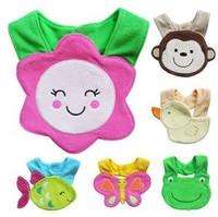 New Arrival Wholesale 20pcs/lot Baby Towel Saliva Waterproof New Kids Cartoon Pattern 3 Layer Toddler Lunch Bibs