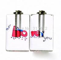 """Free ship! 100pcs/lot """"love you""""  oil perfume pendant vial bottle  rice art pendant screw cap"""