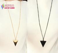 2014 fashion hot punk simple 3colors triangle long costume pendant & necklace for men & women colar bijoux de pingente collier