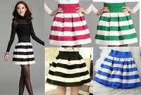Fashion 2014 New Striped Skirt Good Quality Nice Design Skirts 5 color Hot selling European and American style