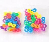 24pcs/pack 100packs/lot multi color clips for loom bands kit