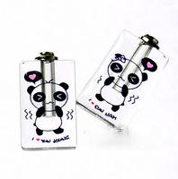 """Free ship! 100pcs/lot """"panda"""" pattern oil perfume pendant vial bottle  rice art pendant screw cap NEW"""