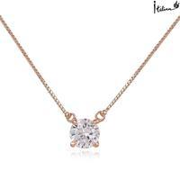 Real Italina Rigant Genuine Austria Crystal  18K gold Plated Pendant Necklace  Enviromental Anti Allergies #RG61334
