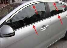 2011 2012 KIA Rio K2 4dr High quality stainless steel Car window trim strip Up down