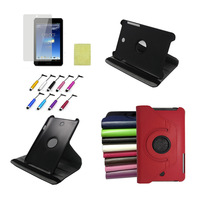 360 Rotating leather PU Case For ASUS MeMO Pad HD 7 ME173X ME173 7 inch Tablet 7'' Flip Stand Smart Cover Back Cases+Film+pen
